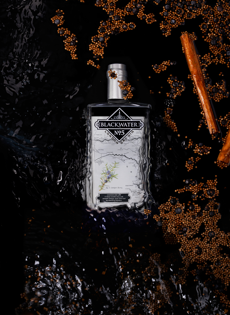 Blackwater Gin, Product Photography By White Cloud Photographic